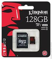 Карта памяти Kingston microSDXC 128 Gb UHS-I +ad U3 (R90, W80MB/s)