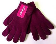 Подростковые перчатки Корона, бордовые