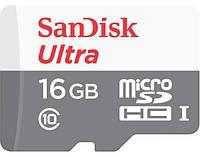 Карта памяти Sandisk microSDHC 16GB Ultra Class 10 UHS-I 48MB/s + SD