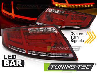 Фонари стопы диодная LED оптика Audi TT красно-белые