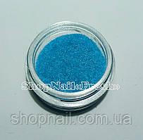 Бархат для дизайна ногтей, голубой
