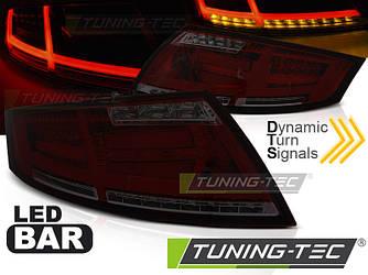 Фонари стопы диодная LED оптика Audi TT красно-тонированные