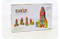 Детский деревянный конструктор Cubika (Кубика) Сказочный город 12336. Деревянные эко игрушки, фото 1