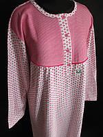 Женские байковые ночнушки с длинным рукавом., фото 1