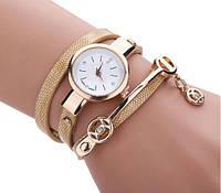 Женские часы-браслет золотистого цвета (ч-15)