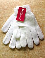 Подростковые перчатки Корона, белые