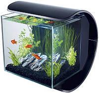 Акваріум Tetra Silhouette LED 12L для золотих рибок, чорний, 12 л
