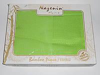 Покрывало бамбуковое вафельное Nazenin, ярко-салатовое, фото 1
