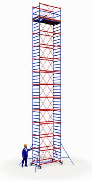 Вышка тура ПСРВ 1,2х2м комплект (12+1), рабочая высота 17м