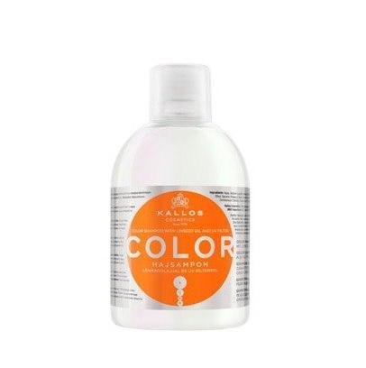 Шампунь с льняным маслом Kallos COLOR 1000 мл для окрашенных волос