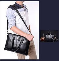 Мужская кожаная сумка. Модель 63266, фото 5