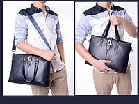 Мужская кожаная сумка. Модель 63266, фото 6
