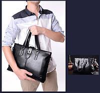 Мужская кожаная сумка. Модель 63266, фото 7