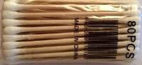 Ватные палочки деревянные ухочистки 24 уп./80 шт.