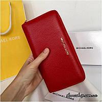 Кожаный кошелек Майкл Корс красный, фото 1