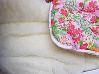Теплое одеяло из овчины открытое 175х210. Хлопок. Цвета разные.