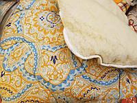 Теплое одеяло из овечьей шерсти открытое 175х210. Хлопок. Цвета разные.