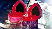 Шкатулка Сердце Футляр для украшений в виде сердца Фиолетовая