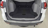 Защитная хром накладка на задний бампер с загибом Mitsubishi pajero sport II (митсубиси паджеро спорт 2) 2008г