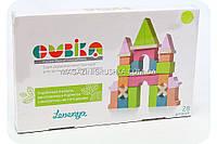 Бесплатная доставка. Детский деревянный конструктор Замок Cubika(Кубика) 11346. Деревянные эко игрушки