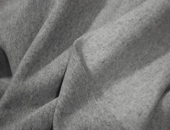 Футер двунитка с начесом светло- серая меланж (220см, Турция), фото 2