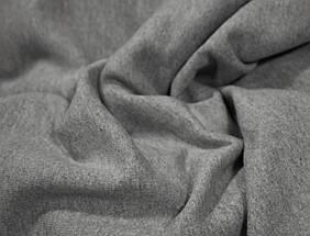 Футер двунитка с начесом светло- серая меланж (220см, Турция), фото 3