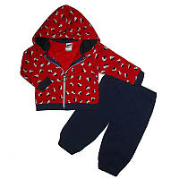 Костюм для девочки на байке (74-92) 2-ка  кофта + штаны арт.9266