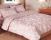 Комплект постельного белья TAC Сатин де люкс Shadow V55 розовый