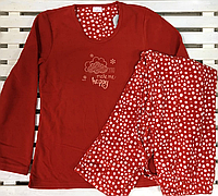 Женская теплая флисовая пижама размер M,L