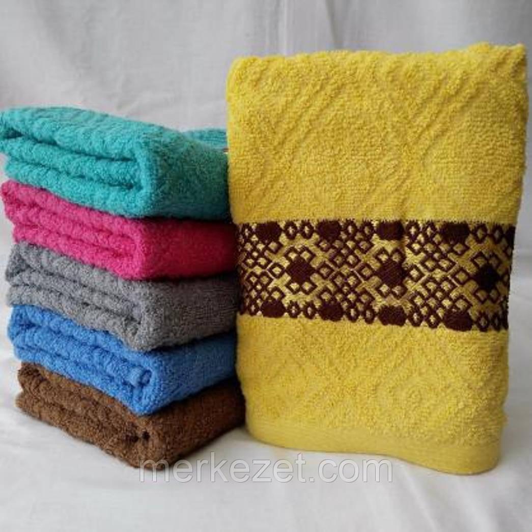 """Полотенце. Махровое полотенце """"Геометрия"""" для рук и лица. Метровое"""