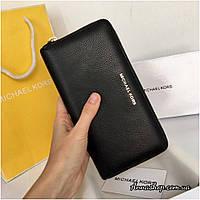 Кожаный кошелек Майкл Корс кожаный черный, фото 1