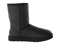 Угги мужские UGG Classic Short Leather Black FR1112