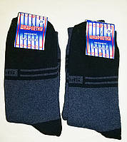 Носки мужские теплые махровые, хлопок стрейч, цвет синий. Р-р 27. От 6 пар по 12грн., фото 1