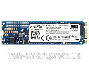Твердотельный накопитель M.2 275Gb, Crucial MX300, SATA3, 2.5', TLC (3D V-NAND), 530/500 MB/s (CT275MX300SSD4)