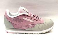Женские кроссовки Reebok качественные розовые/черные Re0006