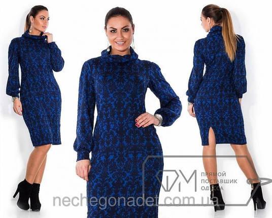 """Шикарное женское платье ткань """"Стеганный трикотаж"""" 52, 54 размер батал, фото 2"""