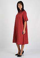 Льняное платье с застежкой на пуговицы, фото 1