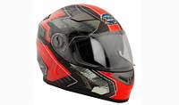 Шлем GEON 952 Интеграл Fantom черный-красный L