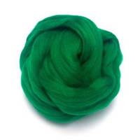 Шерсть для валяния 26-29 микрон (цвет: зеленый)
