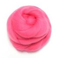 Шерсть для валяния 26-29 микрон (цвет: розовый)