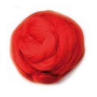 Шерсть для валяния 26-29 микрон (цвет: красный)