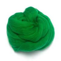 Шерсть для валяния 26-29 микрон (цвет: травянистый)
