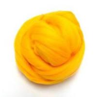 Шерсть для валяния 26-29 микрон (цвет: ярко желтый)