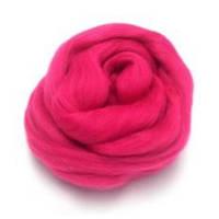 Пряжа для валяния 26-29 микрон (цвет: темно-розовый)