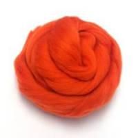 Пряжа для валяния 26-29 микрон (цвет: ярко-красный)