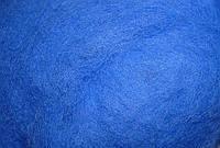 Шерсть для валяния кардочесанная (цвет: 6017 василек)