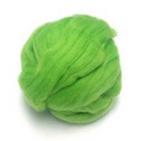 Пряжа для валяния 26-29 микрон (цвет: салатовый)