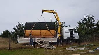 Отзыв и благодарность из Львова о деревянной бане-бочке. 5