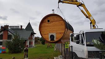 Отзыв и благодарность из Львова о деревянной бане-бочке. 7