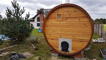 Отзыв и благодарность из Львова о деревянной бане-бочке. 10